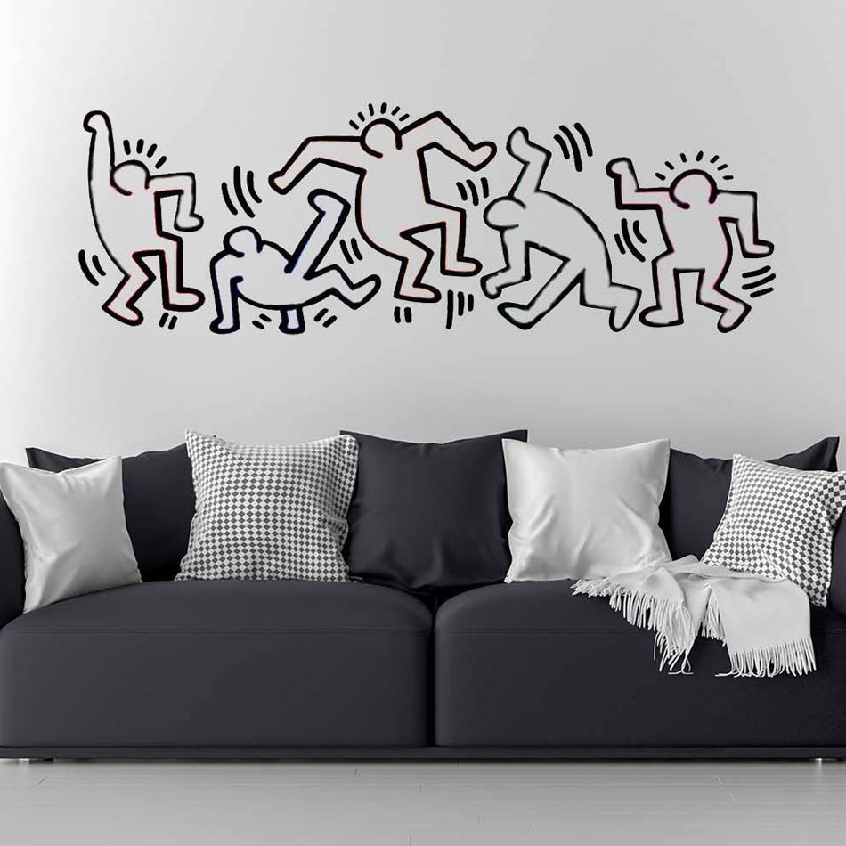 Keith Haring Wall Decal Art Home Decor Sticker Viny Decoration Chambre For Living Rooms Bedroom TV Vinyl Stickers B479
