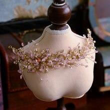 Великолепные европейские тиары ручной работы с розовыми кристаллами