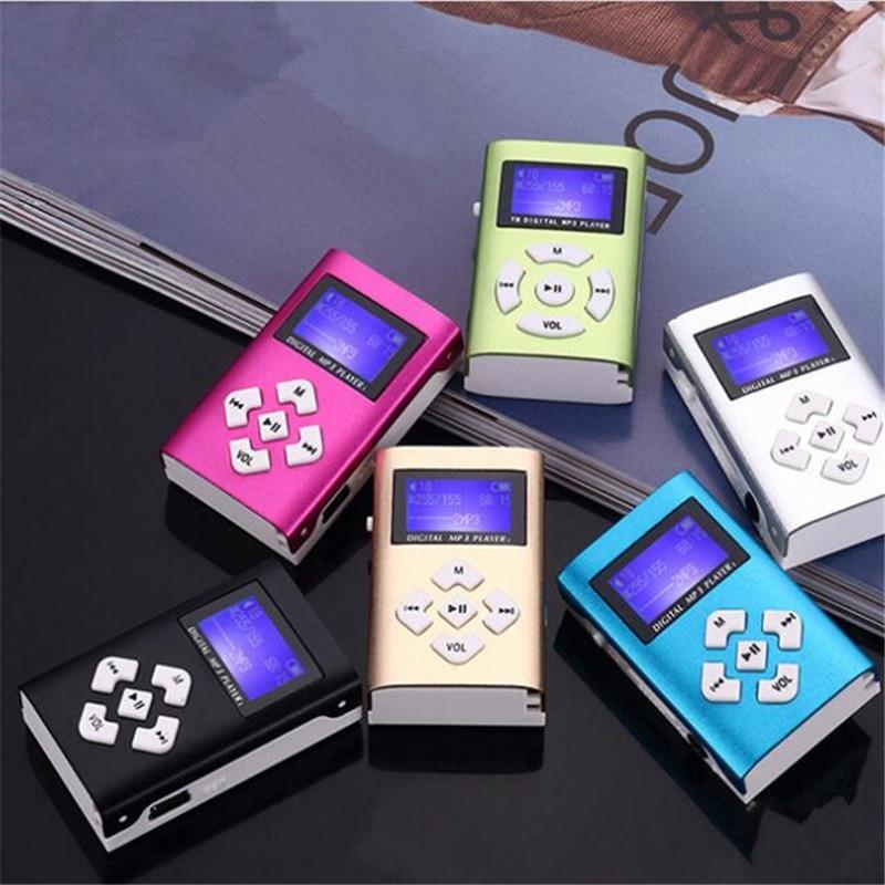 Mp3 Player USB Mini Clip MP3 Player LCD Screen Support 32GB Micro SD TF Card Radio Walkman Pocket Audio Song Subtitles 6 Colors