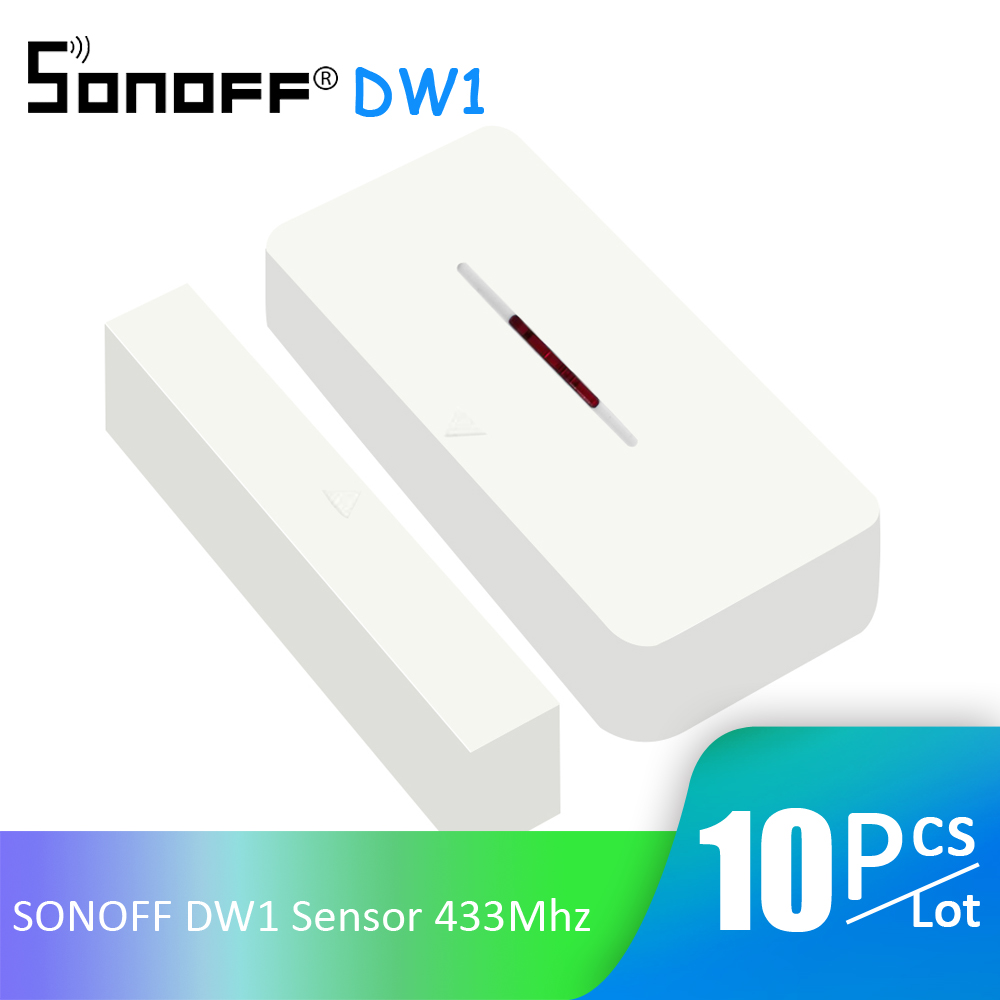 10Pcs Lot SONOFF DW1 Sensor 433Mhz Door Window Alarm Sensor Wireless Automation Anti Theft Alarm For