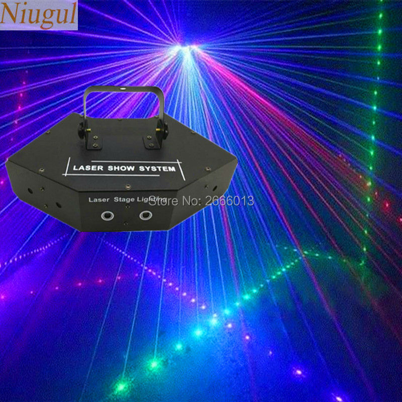 Niugul RGB Laser DMX512 LED Stage Lights Scanner DJ Light Effect Projector Disco Beam Laser Stage lighting effect Free Shipping factory price hot sales 2pcs lot 5r sniper stage light 5r lamp with zoom function scanner laser beam effect led stage lighting