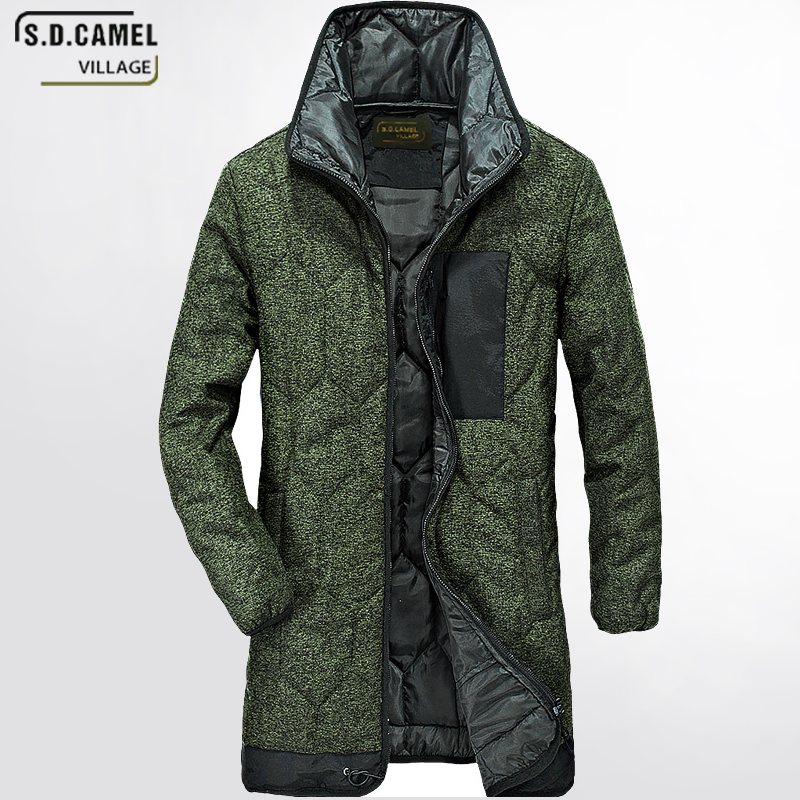 New men's jacket coats thickening winter jackets for Coat plus Size 4XL men brand clothing Quality male long army green