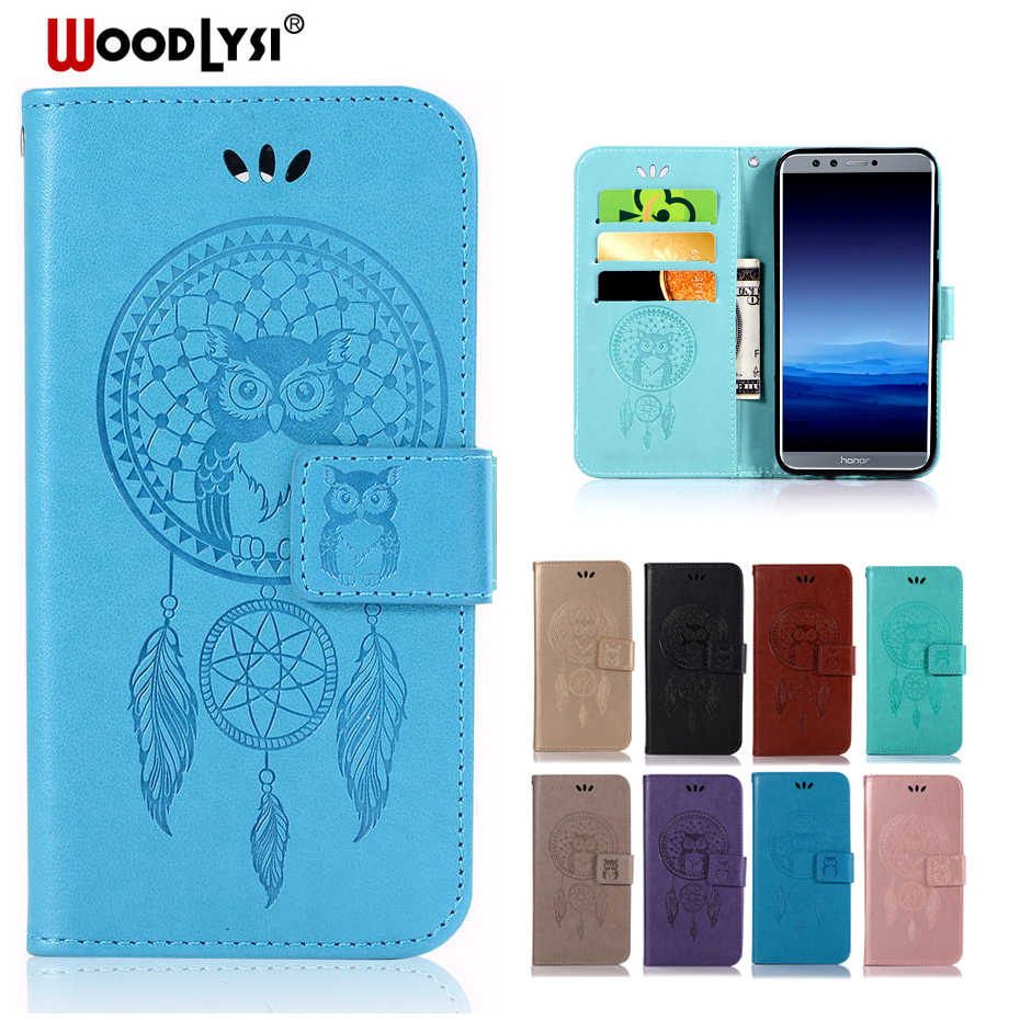 Cho Coque Huawei Honor 5 7 8 9 V9 V10 6C 6 CPro 6X 5C Lite Bìa Luxury Leather Wallet Lật Trường Hợp Cho honor 7X 9i Trường Hợp Điện Thoại Coque