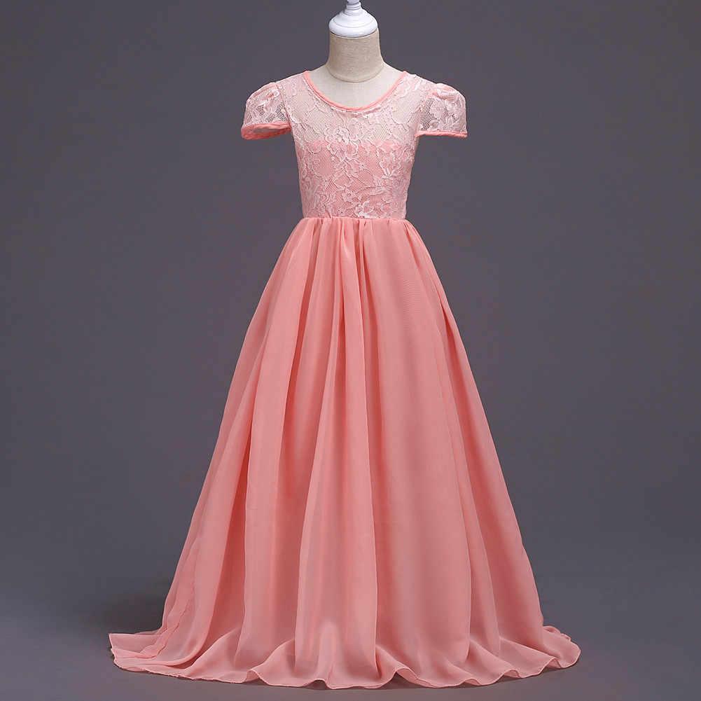 Children Wedding Gowns Kids Wedding Dress Grey Sky Blue Pink Long