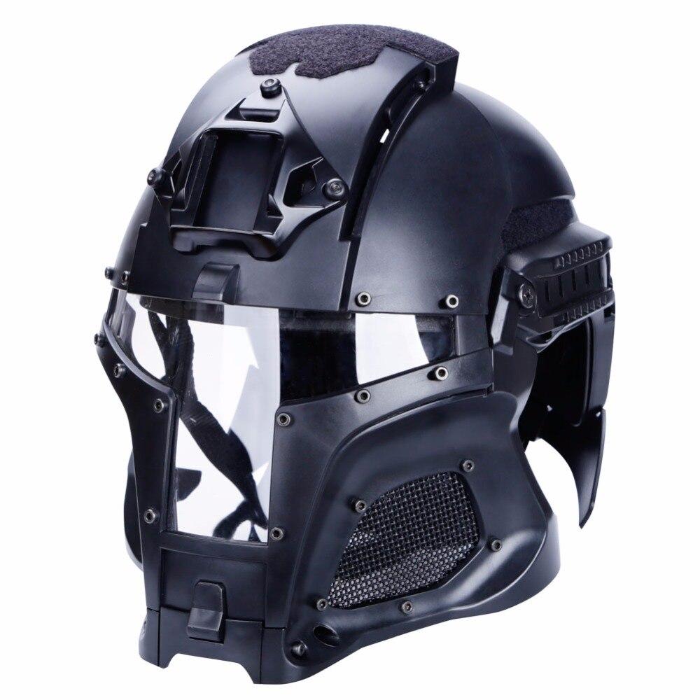 2018 Tactique Casque Balistique Militaire Masque Chasse SideRail LVN Linceul Transfert Base Extérieure Armée Combat Airsoft Paintball