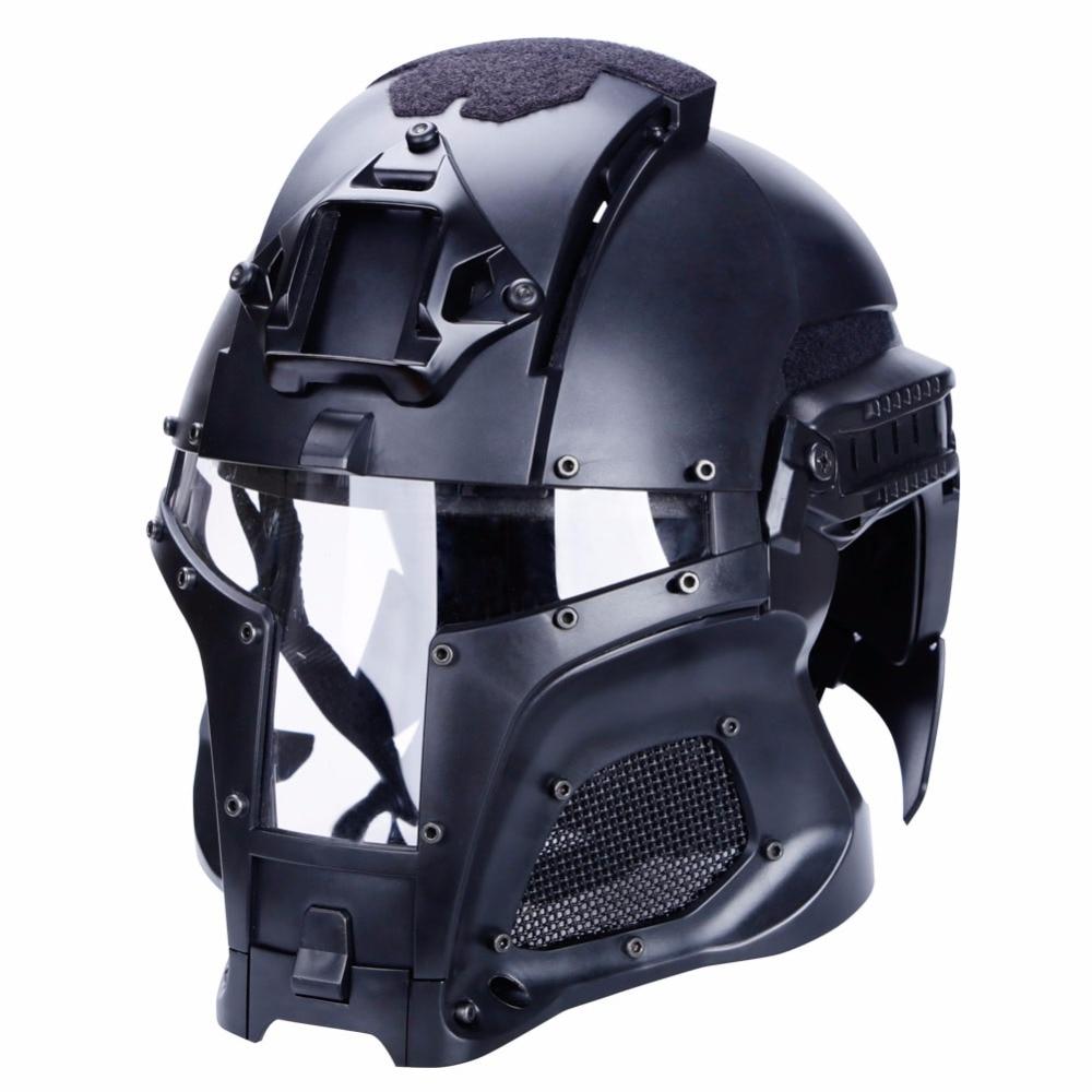 2018 nouveau tactique militaire casque balistique masque chasse SideRail NVG linceul Base de transfert en plein air armée Combat Airsoft Paintball