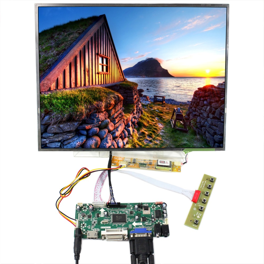HDMI DVI VGA LCD Controller Board With 15inch 1024x768 N150XB LTN150XB QD15XL06 LCD So On B150XG02 B150XG03 B150XG05 B150XG09