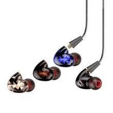 Tennmak trio 3 peças destacável dupla drivers esporte earhook mmcx em fones de ouvido fones com microfone & remoto