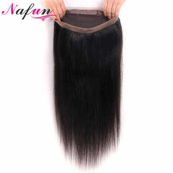 NAFUN Hair Straight Weave 360 Lace Frontal Closure With Baby Hair Brazilian No Remy Natural Color 100% Human Hair Lace Frontal - DISCOUNT ITEM  54% OFF All Category