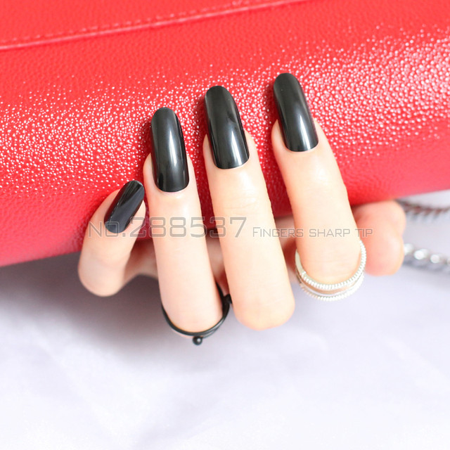 Online Shop New Black fashion Almond long oval head personality ...