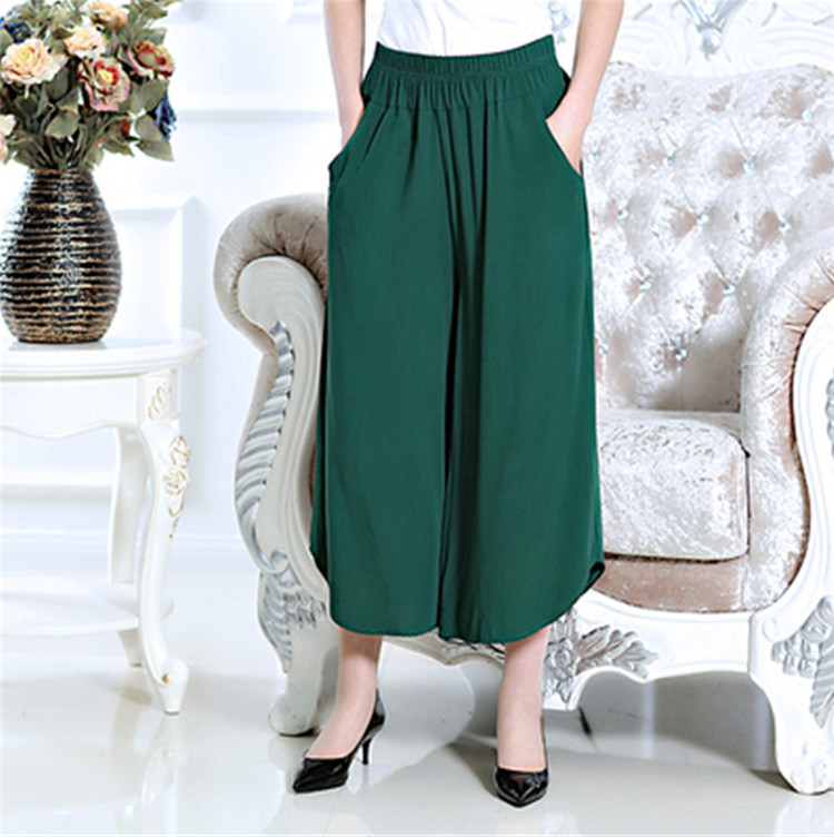 2019 Summer new mother's   wide     leg     pants  ,PLUS size M-6XL 7XL brand thin cotton linen   pants  ,large size Skirt trousers