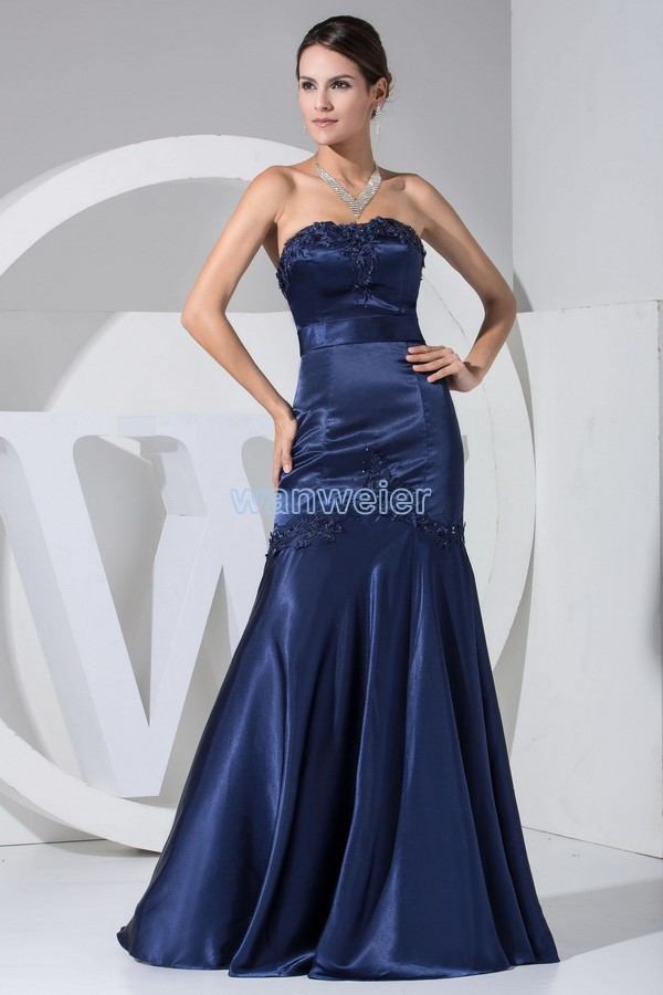 free shipping hot sale new design long vestidos formales   evening   gowns appliques mermaid custom color/size women   evening     dress