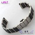 Принадлежности керамический браслет ремешок подходящий мужчин и женщин 20 мм стали