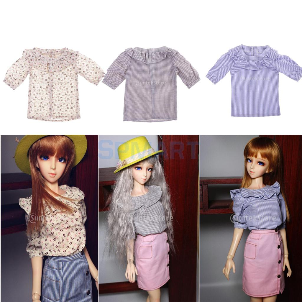 1/3 BJD Doll Clothes Elegant Lotus Leaf Shirt Tops for Dollfie LUTS MSD SD AS DOD Girl Doll Dress up Outfit Kids Adults Play Fun new 1 3 22 23cm 1 4 18 18 5cm bjd sd dod luts dollfie doll orange black short handsome wig