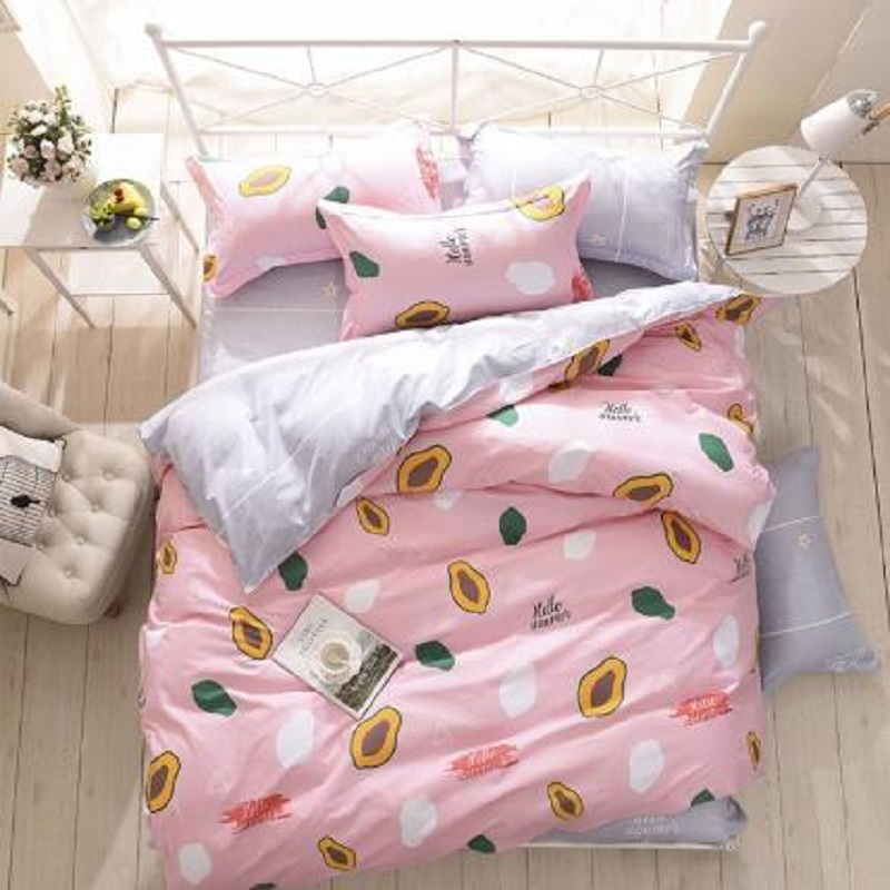 JU Home Textiles Cartoon Style 3/4pcs Bedding Sets Duvet Cover Bed Sheet Pillowcase Bed Linen  Girl Child BedclothesJU Home Textiles Cartoon Style 3/4pcs Bedding Sets Duvet Cover Bed Sheet Pillowcase Bed Linen  Girl Child Bedclothes