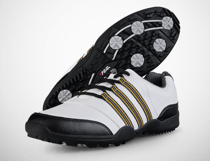 New version PGM Men golf shoes professional soft comfortable non-slip waterproof golf shoes men leather Sneakers