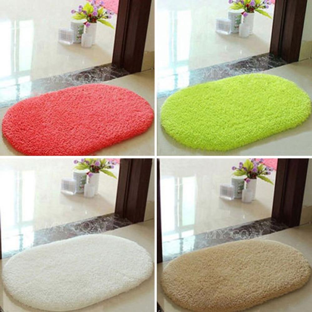 Tapete de banheiro tapete de banho super magia antiderrapante sala de almofada oval tapete quarto tapete 40x60cm
