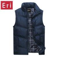 New Brand Mens Jacket Sleeveless Vest Winter Fashion Casual Coats Male Cotton Padded Men S Vest