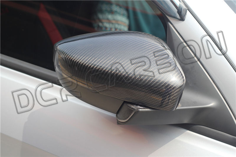 For Volkswagen VW POLO 2009-2014 With tuningled Replacement Carbon Fiber Side View Mirror