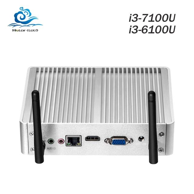 HLY Mini Computer Core i3 7100U 6100U 4K Mini PC Windows 10 Intel NUC Celeron 2955U HDMI Micro Desktop Computer Barebone Nettop