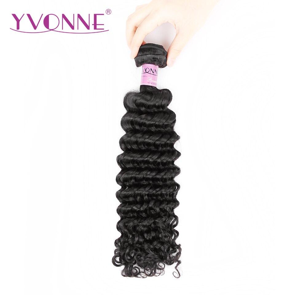 Yvonne Brésilien Vague Profonde Remy Cheveux Bundles Naturel Couleur 100% de Cheveux Humains Tissage Livraison gratuite