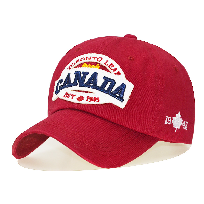 2019 CANADA Baseball Caps Women Patch Dad Hat for Men Letters embroidered snapback cap Black cap Unisex cotton Leisure