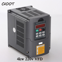 CIOOT HY Frequency Converter 4kw Inverter 220v Output Current 18A CNC Vfd 3 Phase For AC