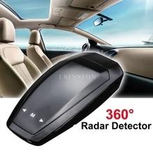 DHL 20 шт. 360 радар-детектор полоса распознавание и голосовое предупреждение автомобиль анти gps Радар Лазерная скорость камера детектор