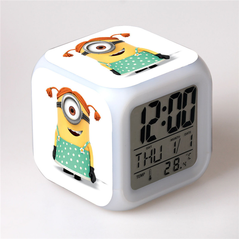 Women Small Yellow People Colorful Alarm Clock Quartet LED Clock Digital Alarm  Clock Bedroom Clocks With. Compare Prices on Small Led Alarm Clock  Online Shopping Buy Low