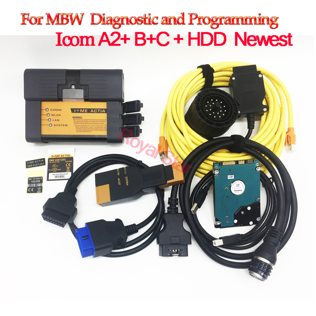New Price For bmw icom A2+B+C 3 in 1 Diagnostic Programming Tool with HDD V12.2018 full software ICOM A2 All Series Diagnostic For BMW