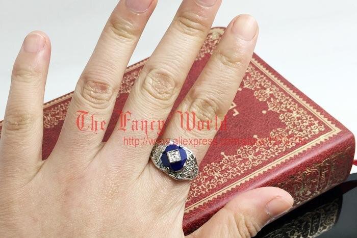 The Vampire Diaries Caroline ring Lapis Lazuli ring fashion women ...