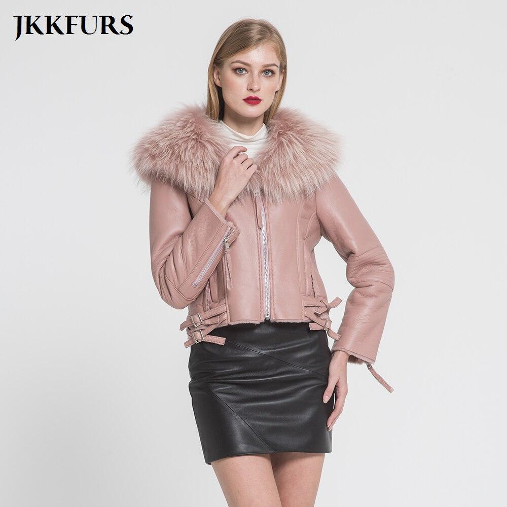 Veste Mode Nouvelles Laveur khaki Manteau Col Double De black Pink Cuir Fourrure Visage Chaud 2019 navy Véritable dark Green Femmes En Épais Réel Raton Blue Doublé S7009 Biker HdnSvwq6