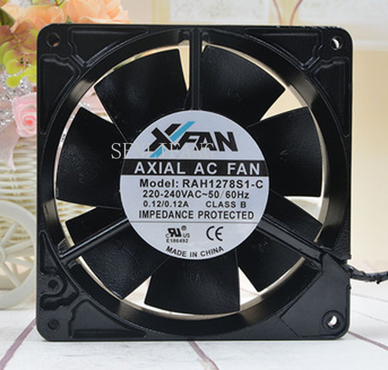 Free Shipping RAH1278S1-C High Temperature All Metal Cooling Fan AC 220V 0.12A 1500RPM 12738 12cm 127*127*38mm