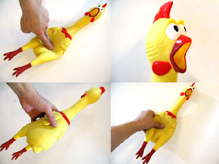 creative Screaming chicken shrieking chicken shriek chicken vent playing trick toy sound 32cm