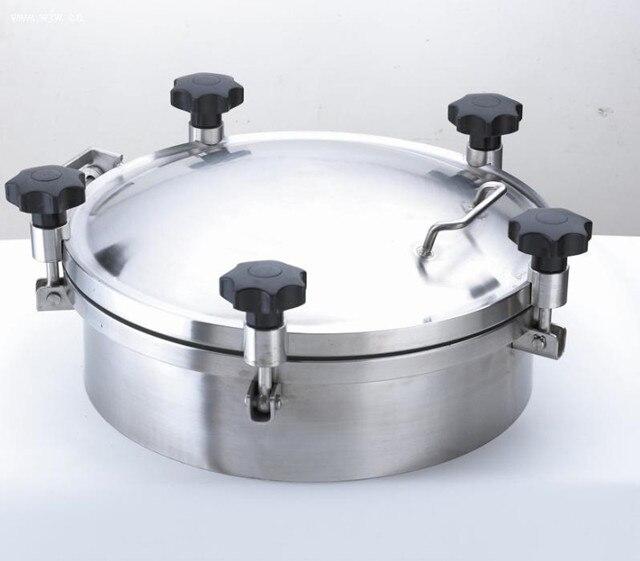 Joint rond de silicone/EPDM d'acier inoxydable de couverture de trou d'homme de réservoir de pression sanitaire de 500mm