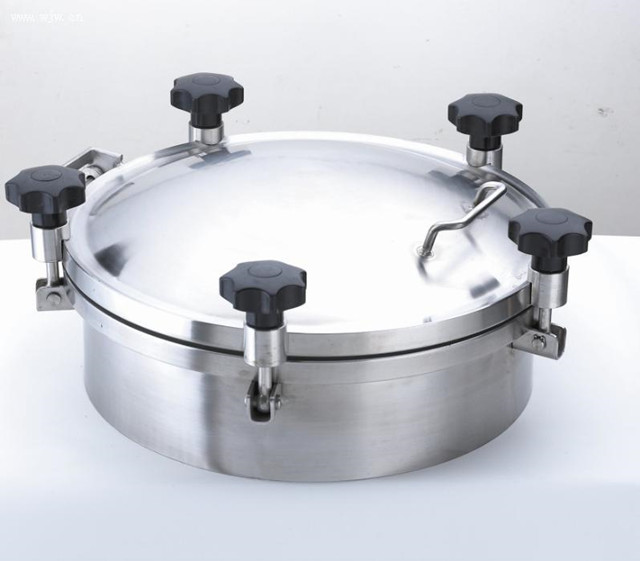 Sanitary 500mm Round Pressure Tank Manhole Cover Stainless Steel Silicon/EPDM Sealing