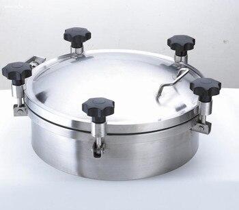 Tapa de boca de tanque de presión redonda sanitaria de 500mm de acero inoxidable de silicona/sellado de EPDM
