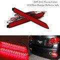 2 pcs Luz Traseira Estilo Red 3D Óptica Luzes LED Bumper Refletor para Toyota Camry Lexus