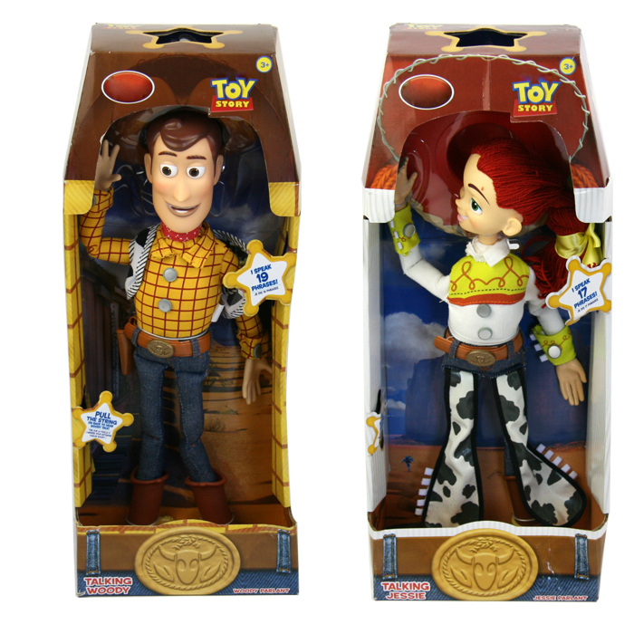 Toy Story 3 Talking Woody Jessie PVC Action Figure Collectible Model Toy Doll 5 12cm 9pcs set toy story buzz lightyear woody jessie pvc action figure toys