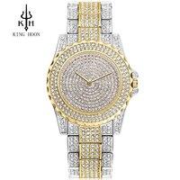 KING HOON Quartz Watch Women Clock Ladies Wrist Watches Female Famous Luxury Brand quartz watch Relogio Feminino Montre Femme