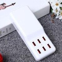 Çok Port USB Şarj USB Hub 6 Limanlar AC DC Duvar Soket Dock Uzatma Güç Adaptörü Telefon Şarj AB/ABD/İNGILTERE Tak