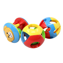 3 pcs set Baby Rattle, Ring Bell Toys Ball, Preconscious Vision Logic Coordination Development, Safety 3C Certificated ABS Toy