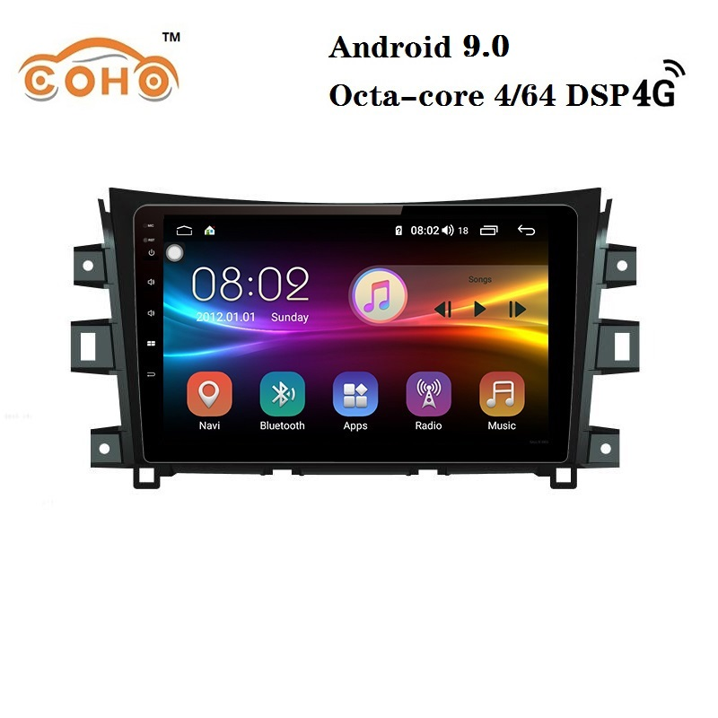 Car audio Android 9.0 8-core 4/64G for <font><b>Nissan</b></font> <font><b>Navara</b></font>/<font><b>NP300</b></font> with Radio BT GPS navigation Carplay DSP AND support WIFI 4G internet image