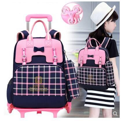 School Trolley backpack bags for Girls kids wheeled Bag for School Trolley Backpack On wheels Children School Rolling Backpacks school rolling backpack 18 inch wheeled backpack for girls kids school bag on wheels children trolley backpack bag for teenagers