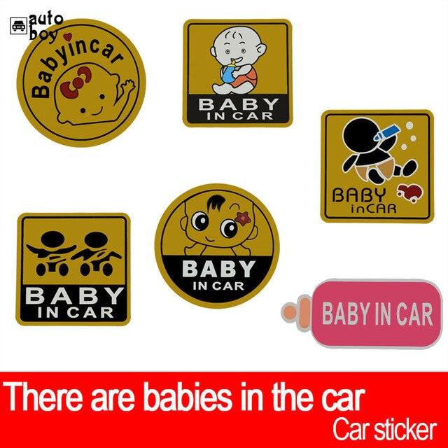 Etiqueta do carro Para Audi a3 Para Carros Acessórios Do Carro Para a Volkswagen Adesivos de Carro E Decalques BMW Acessórios Do Bebê No sinal