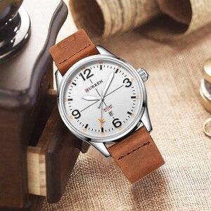 Image 3 - CURREN Einfache mode stil Business Armbanduhr Beiläufige Quarz Männer Uhren Männliche Uhr Relogio Masculino Horloges Mannens Saat