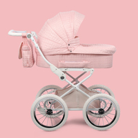Coolbaby Baby Strollers European Royal Baby Carriage Baby Two Way Suspension High Landscape Trolley Baby Four