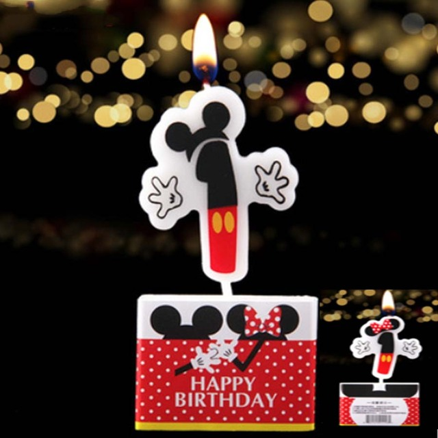Minnie Mouse Numbers 1 Cake Candles Birthday Party Evening Decoration Ideas Childrens Day Adults Cheap