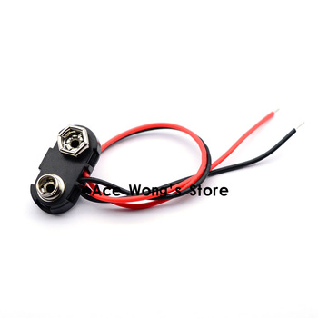 10pcs 9V Battery Snap Connector Clip Lead Wires Holder