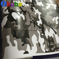 Matte Black White Grey Camouflage Full Car Body Wrap Vinyl Army Camo Printed Film Sheet Truck Decal Stickers